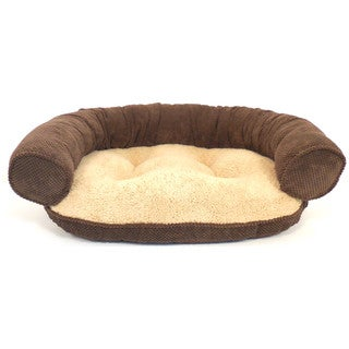 Hamilton Textured Solid Recliner Bolster Pet Bed