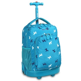J World Puppy Sunny 17-inch Rolling Backpack