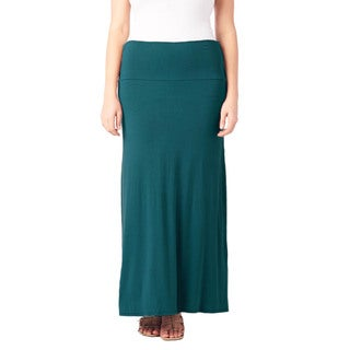 Plus Size Comfortable and Versatile Maxi-Skirt