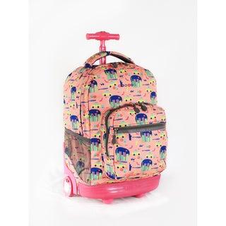 J World New York Sunrise 18-inch Rolling Backpack