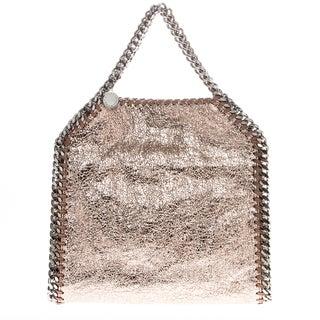 Stella McCartney Mini Falabella Crackle Metallic Faux Leather Tote