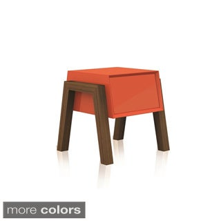 FIGO Collection High Gloss Orange Lacquer Nightstand / End Table by Casabianca Home