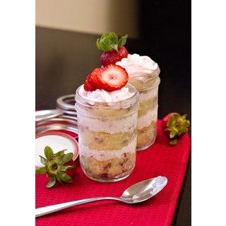 Strawberry Shortcake Cake in a Jar with Strawberry Souffle Buttercream