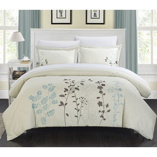Chic Home Kaylana Floral Embroidered 7-piece Bed in a Bag Set
