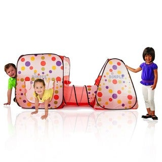 DimpleChild Pop-up Triangle and Square Tent with Tunnel Playset