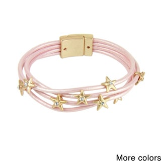 Saachi Star Multi Strand Leather Magnetic Bracelet (China)