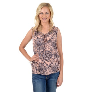 Journee Collection Women's Sleeveless Printed Top