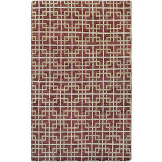 Couristan Retrograde Galaxy/ Burgundy-Ivory Rug (9'6 x 13'6)