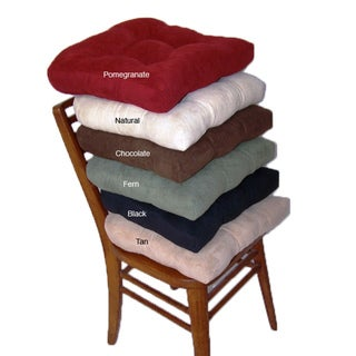 Faux Suede Chamois Hugger Non-slip Seat Cushion (Set of 4)