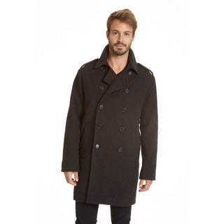 Excelled Men's Big and Tall Faux Wool 3/4 Longer Peacoat