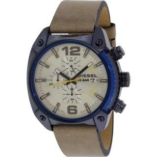 Diesel Men's DZ4356 Beige Leather Quartz Watch