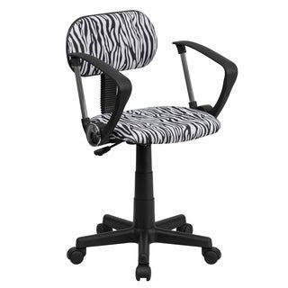 Zebra Print Computer Chair with Arms