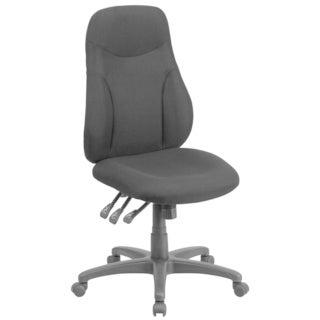 High Back Black Fabric Multi-functional Ergonomic Chair
