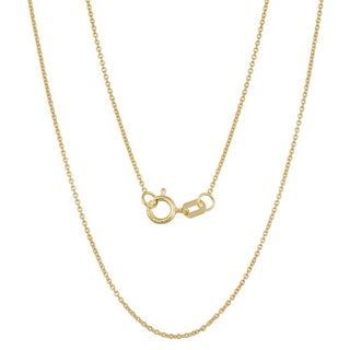 Fremada 14k Yellow Gold 0.9-mm High Polish Cable Chain (16 - 24 inches)