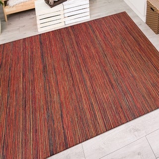 Couristan Cape Hinsdale Crimson/ Multi Area Rug (5'3 x 7'6)