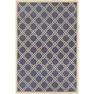 Couristan Five Seasons Sun Island Blue/ Cream Area Rug (4'11 x 7'6)