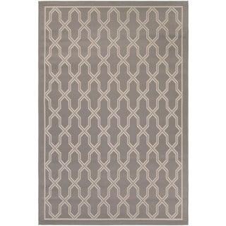 Couristan Five Seasons Crystal Coast Grey/ Cream Area Rug (4'11 x 7'6)