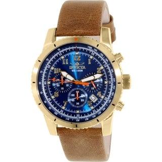 Invicta Men's Pro Diver 18926 Brown Calf Skin Quartz Watch