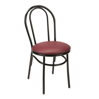 3210bk Vinyl Upholstered Cafe Chair Round Back