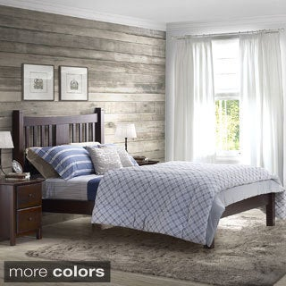 Shaker Wood Slated Full Platform Bed