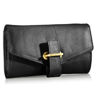 Phive Rivers Black Leather Wallet (Italy)