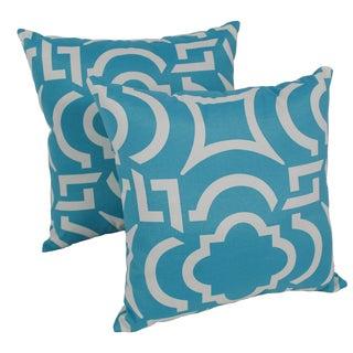 Blazing Needles Carmody 17-inch Spun Polyester Outdoor Throw Pillows (Set of 2)