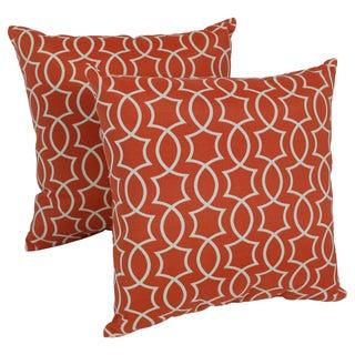 Blazing Needles Titan 17-inch Spun Polyester Outdoor Throw Pillows (Set of 2)