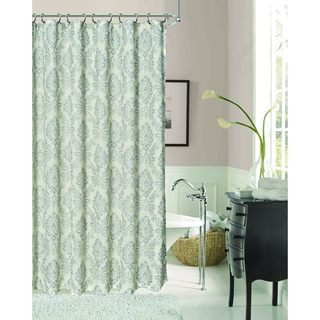 Luciana Damask Polyester Shower Curtain