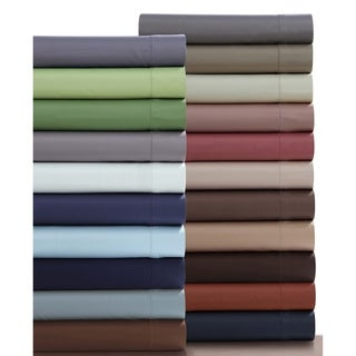 Egyptian Cotton 750 Thread Count Deep Pocket Sheet Set with Oversize Flat and Pillowcase Separates