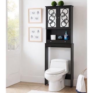 Furniture of America Landers Modern Cappuccino Space Saver Cabinet