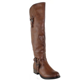 Olivia Miller 'Mulberry' Knee High Buckle Riding Boots