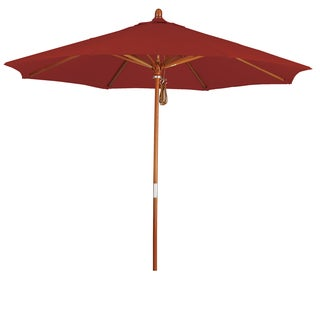 Somette 9-Foot Market Umbrella with Marenti Wood Frame and Pacifica Fabric