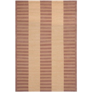 Safavieh Hand-knotted Nepalese Ivory/ Rose Wool Rug (9' x 12')