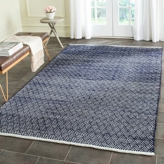 Safavieh Hand-Tufted Boston Navy Cotton Rug (9' x 12')