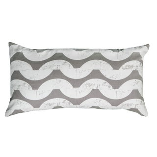 Rizzy Home Grey And White Rectangle Pillow Cover