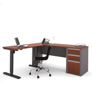 Bestar Connexion L-Desk including Electric Height Adjustable Table