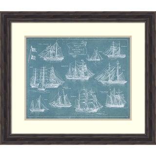 Wild Apple Portfolio 'Sailing Ships' Framed Art Print 28 x 24-inch