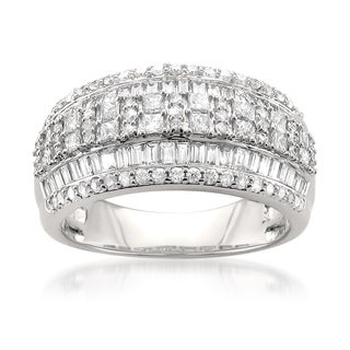 14k White Gold 1 3/8ct TDW Multi-row Diamond Band (G-H, I1)