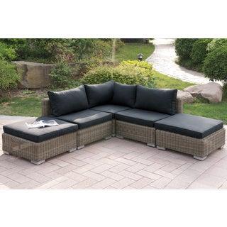 Berezan 5-piece Patio Sectional Sofa in Tan