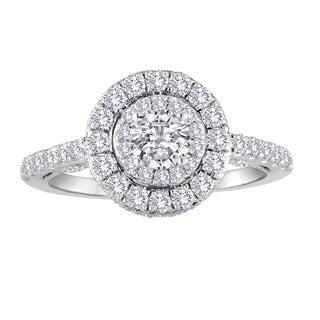 14k White Gold 1 1/10ct TDW Diamond Engagement Ring (H-I, I1-I2)