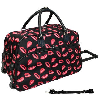 World Traveler Kisses 21-inch Carry-on Rolling Duffle Bag