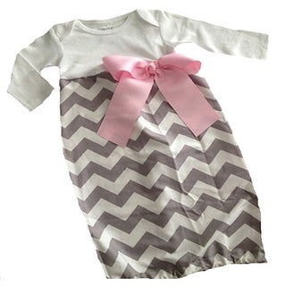 Layette Gown Baby Girl Infant Gown Chevron Sleeping Sack