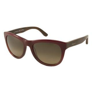 Ferragamo Women's SF685S Rectangular Sunglasses