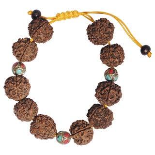 Nepal Turquoise Coral Rudraksha Bracelet (Nepal)