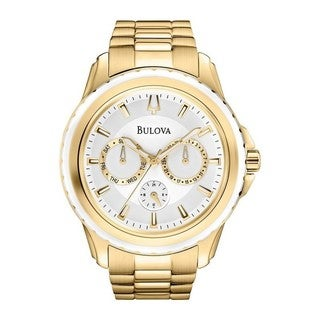 Bulova Men's Marine Star Multi-Function Gold-Tone Stainless Steel Watch 97N103