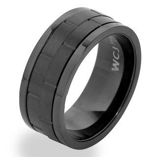 Men's Stainless Steel Dual Spinner Ring