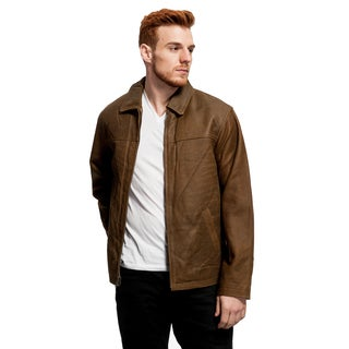 Men's Buffed Lambskin Open Bottom Jacket