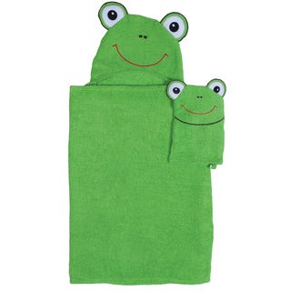 Frog Hooded Bath Wrap for Tub Time for Tots