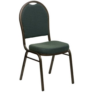 Dome Fabric Green Banquet Chair