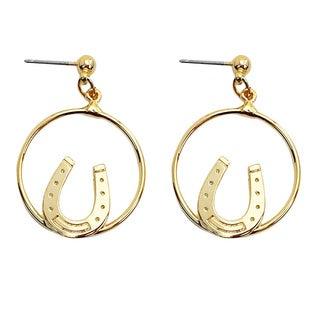 Goldtone Horseshoe Hoop Earrings